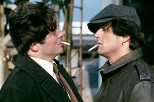 PARADISE ALLEY, 1978 directed by SYLVESTER STALLONE Armand Assante and Sylvester Stallone (photo)