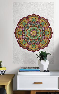 Paradise Mandala Coloring Wall Decal