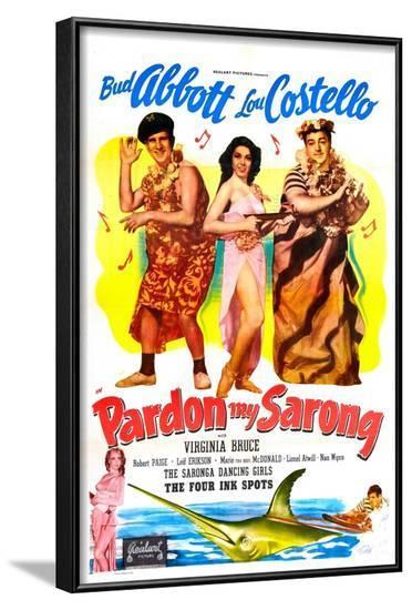 Pardon My Sarong--Framed Art Print