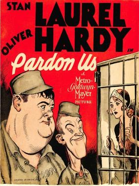 Pardon Us, Oliver Hardy, Stan Laurel on Window Card, 1931