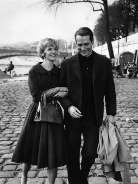 PARIS BLUES, 1961 directed by MARTIN RITT Joanne Woodward / Paul Newman (b/w photo)