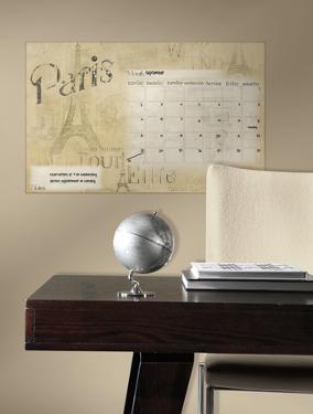Paris Dry Erase Calendar Peel and Stick Wall Decals