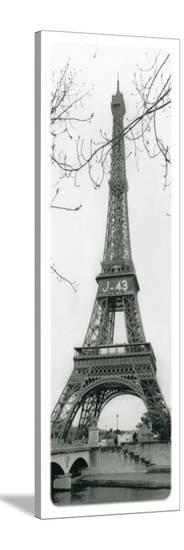 Paris, Eiffel Tower--Stretched Canvas Print