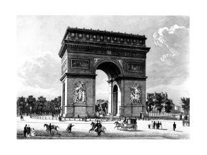 Paris, France - Arc de Triomphe