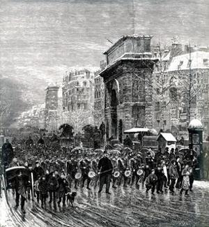 """Paris, France - Boulevards - """"Le Regiment Qui Passe"""""""