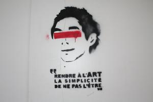 Paris France Graffiti 2 Plastic Sign