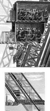 Paris, France - La Tour Eiffel, Lifts