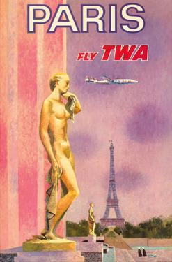 Paris, France - Trans World Airlines Fly TWA