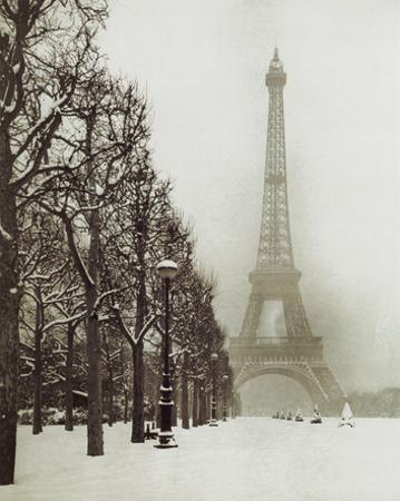 Paris In The Snow (Eiffel Tower) Art Poster Print
