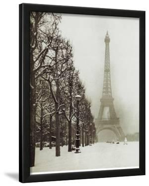 Paris In The Snow (Eiffel Tower) Art Poster Print