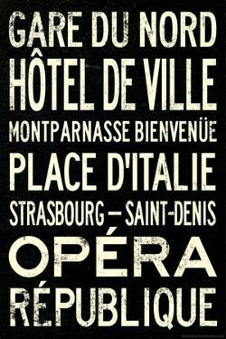 Paris Metro Stations Vintage Retro Metro Travel