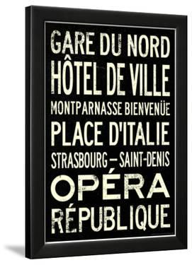 Paris Metro Stations Vintage RetroMetro Travel Poster
