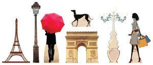 Paris Party Theme Set Lifesize Standups