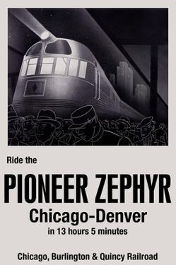 Ride the Pioneer Zephyr by Paris Pierce