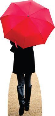 Paris Red Umbrella Lifesize Standup