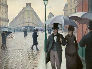 Paris Street in Rainy Weather (Paris, Rainy Day) by Gustave Caillebotte