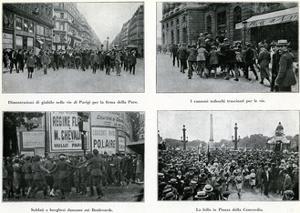 Parisians Celebrate Peace Treatry, France, 1919