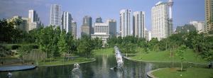 Park in the City, Petronas Twin Towers, Kuala Lumpur, Malaysia