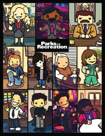 Parks And Recreation- Cartoon Cast