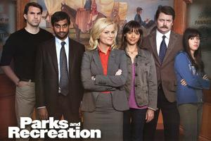 Parks and Recreation Group TV Poster Print