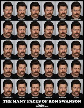 Parks And Recreation- Many Faces Of Ron Swanson