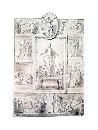 Composition Sketch, C1513-1540 by Parmigianino