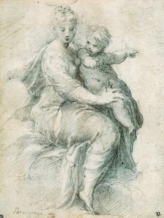 Madonna and Child on the Clouds, C1525 by Parmigianino