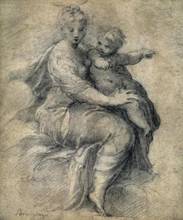 Madonna and Child on the Clouds