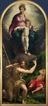 Madonna and Child with St. John and St. Jerome, 1526-27 by Parmigianino