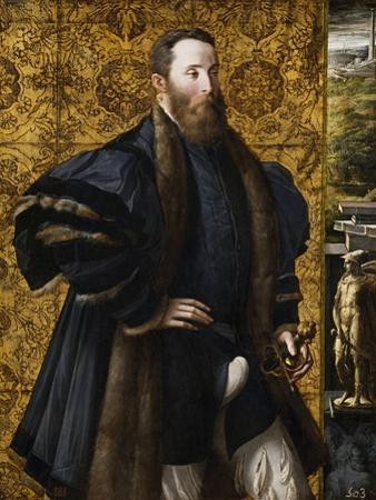 Pedro Maria Rossi, or Roscio, Count of San Segundo, 1535-1538 by Parmigianino