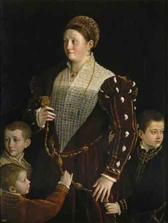 Portrait of Camilla Gonzaga Di San Secondo and Her Three Sons