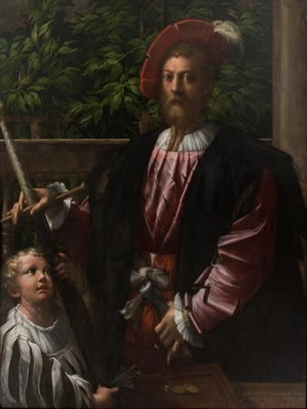 Portrait of Lorenzo Cybo Malaspina (1500-154), 1523 by Parmigianino