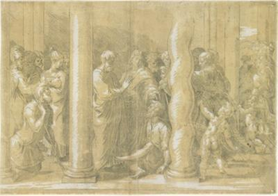 Saints Peter and John Healing the Sick at the Gates of the Temple, C. 1530 by Parmigianino