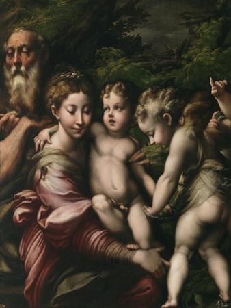 The Holy Family with Angels by Parmigianino
