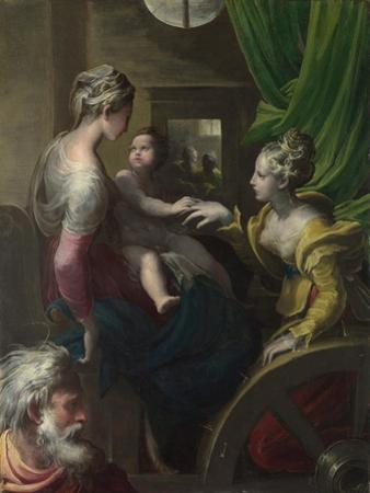 The Mystical Marriage of Saint Catherine, C. 1527-1530 by Parmigianino