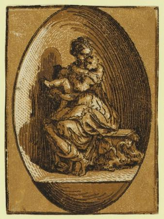 The Virgin in an Oval, Between Ca. 1520 and 1700 by Parmigianino