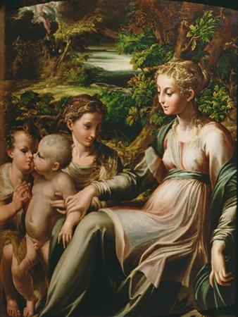 Virgin and Child, with Saints Catherine and John by Parmigianino