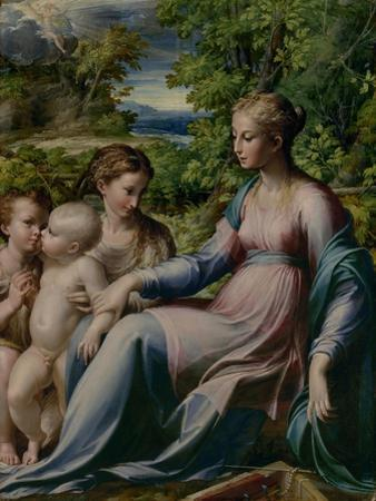 Virgin and Child with St. John the Baptist and Mary Magdalene, 1535-40 by Parmigianino