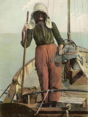 Parqueuse d'Huitres, Oyster Gatherer, of Arcachon in South- West France