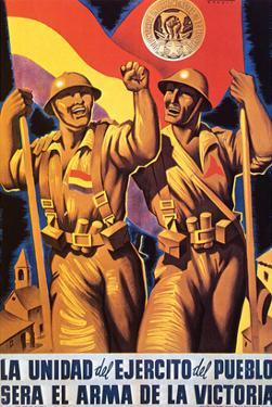 Unity of the People's Army Will Be the Weapon of Victory by Parrilla