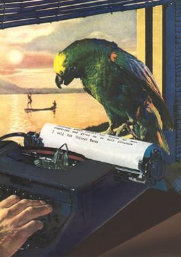 Parrot on Typewriter