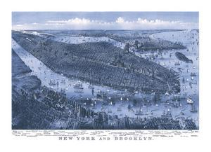 New York and Brooklyn, c. 1875 by Parsons and Atwater