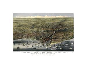 The City of Chicago, Illinois, 1874 by Parsons and Atwater