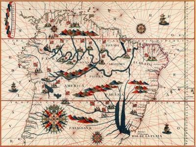 Part of South America, 1582