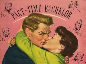 Part-Time Bachelor, Illustration from 'John Bull', 1950S