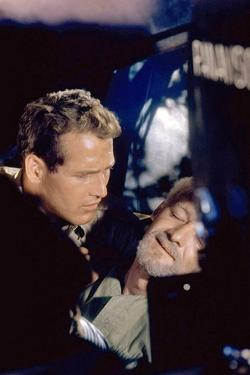 Pas by Lauriers pour les Tueurs with Paul Newman, 1963 (photo)