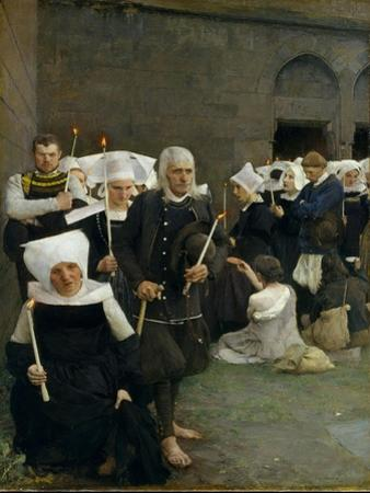 The Pardon in Brittany, 1886 by Pascal Adolphe Jean Dagnan-Bouveret