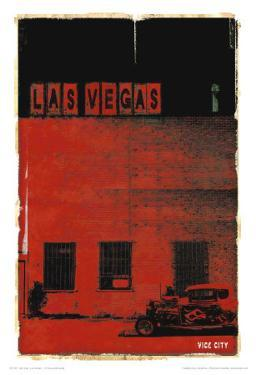 Las Vegas, Vice City in Red by Pascal Normand