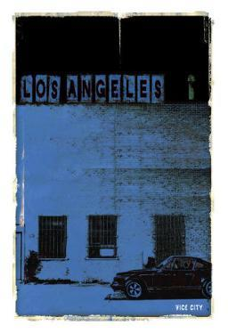 Los Angeles, Vice City in Blue by Pascal Normand