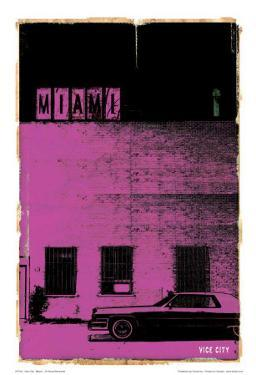 Miami, Vice City in Purple by Pascal Normand